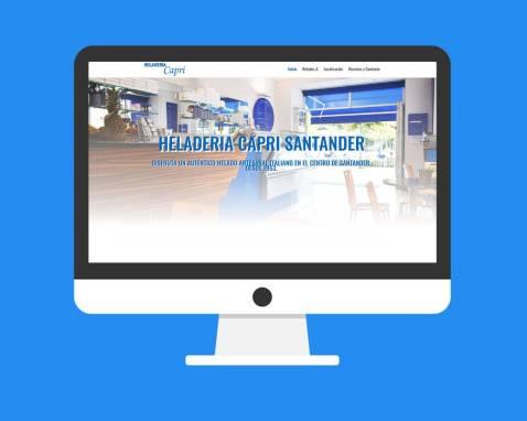 Página Web Heladería Capri Santander