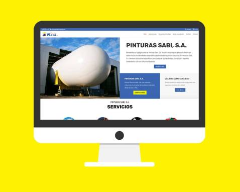 Página Web Pinturas Sabi