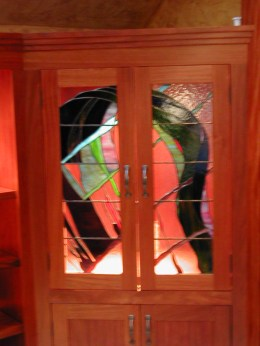 Stained Glass Cabinet doors, Custom cabinetry Camden Maine