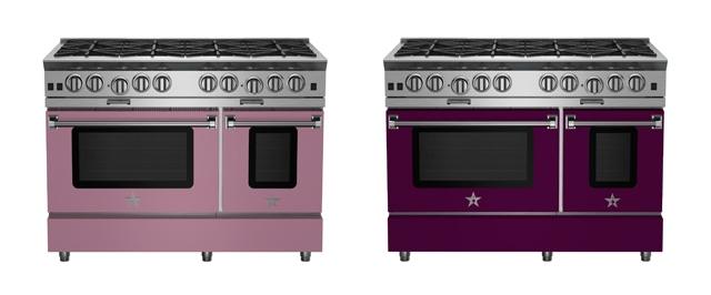 BlueStar 48-inch Platinum Series Ranges in Pastel Violet and Purple Violet