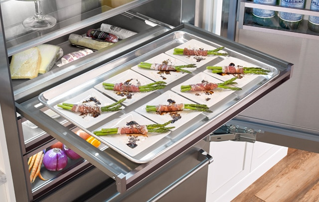 The full extension shelf in the 36-inch Built-in Refrigerator from BlueStar