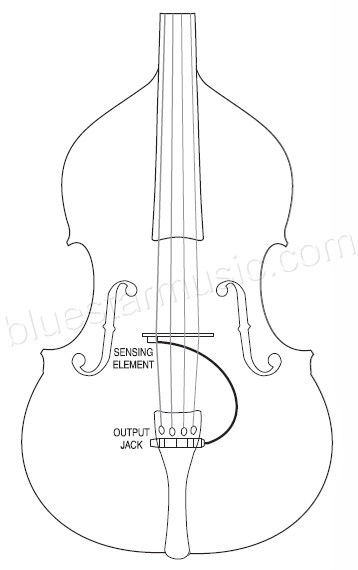 Fishman C-100 Cello Wingslot Bridge Pickup w/Tailpiece