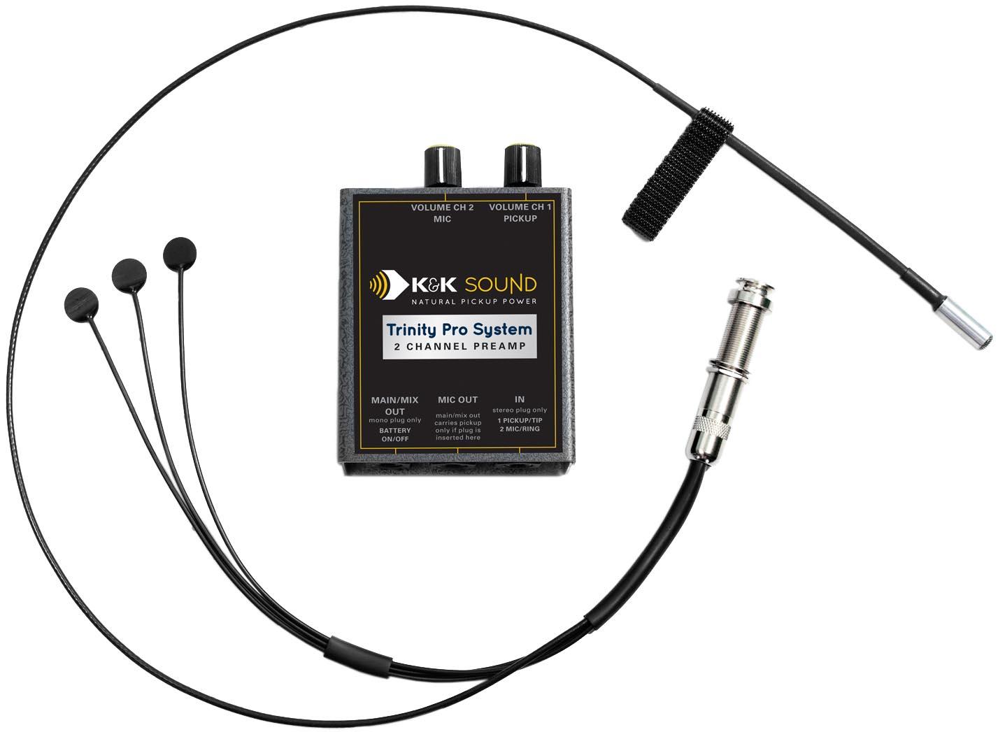 K Amp K Sound Trinity Mini Pro Guitar Pickup System W Mic And