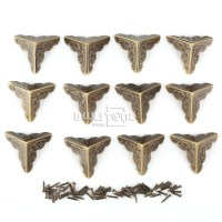 12pcs Antique Iron Corner Protector Guard for Jewelry Wine ...