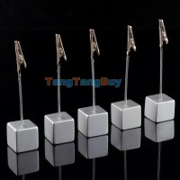 Lot 5pcs cube wire card picture memo photo clip holders ...