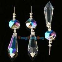 10 Chandelier Lamp Wedding Icicle Hanging Crystal Glass ...