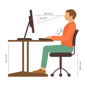 ergonomic chair settings gym resistance bands arizona chiropractic care back pain caused from desk chairs office