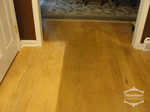 Cleaning old buildup products off hardwood floors, Bluestone Decorating