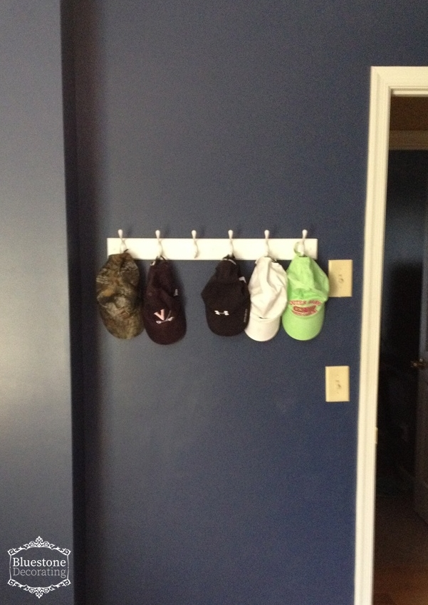 A simple coat rack for hats, backpacks, and jackets can help a teen stay more organized.