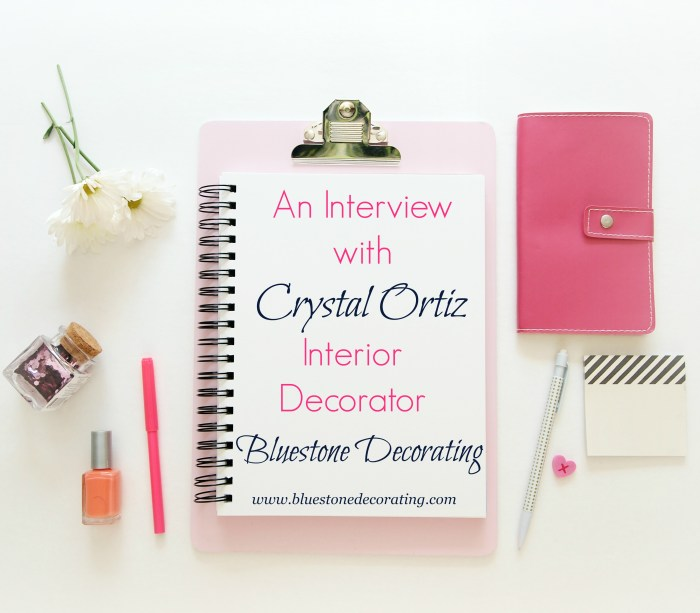 An Interview with Crystal Ortiz of Bluestone Decorating