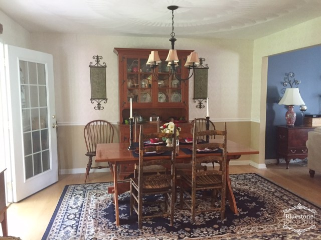 This dining area works great for everyday use for the family, but is easy to extend for large family gatherings as well.