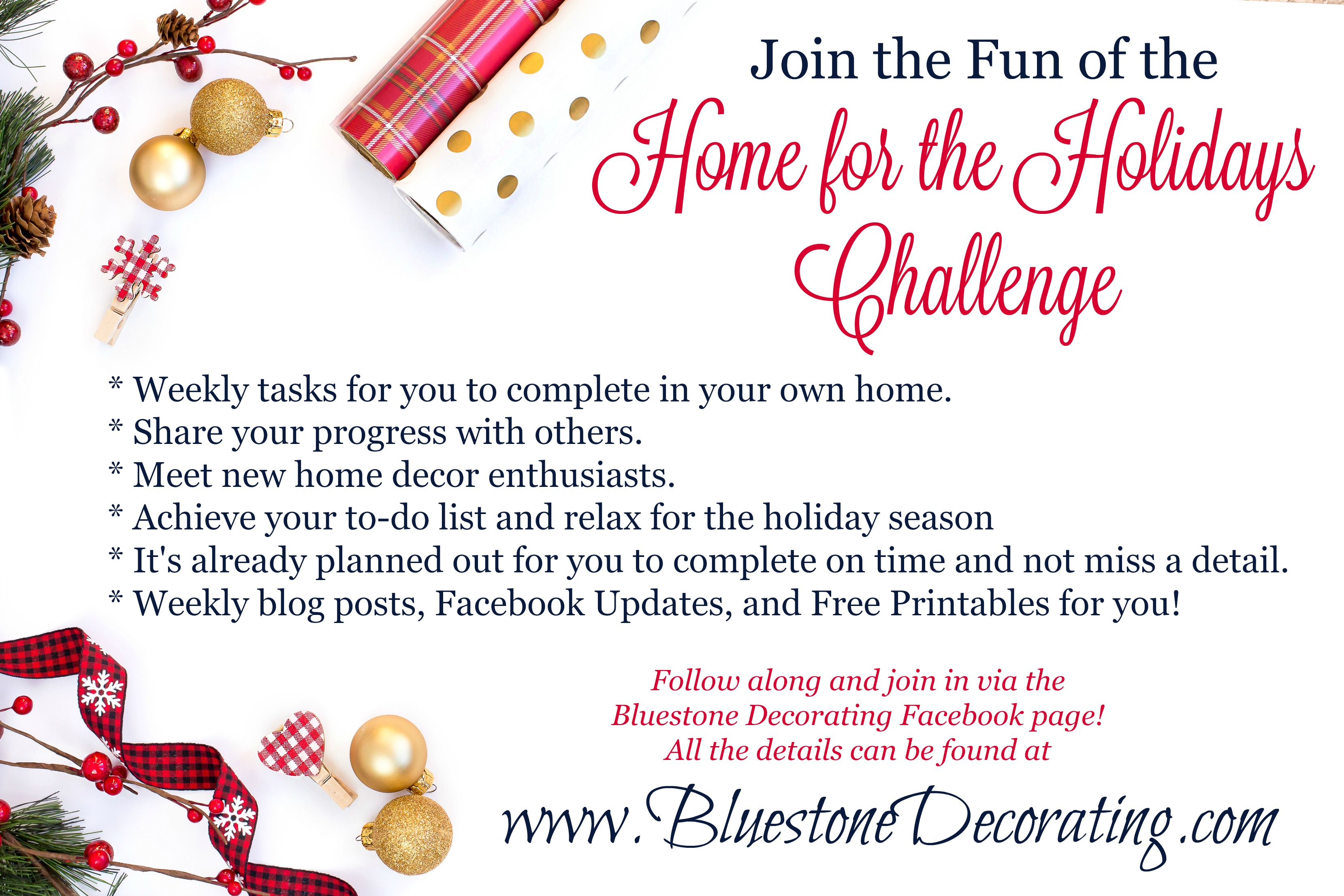 Home for the Holidays 2016 Challenge