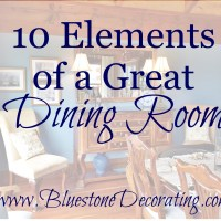 10 Elements of a Great Dining Room