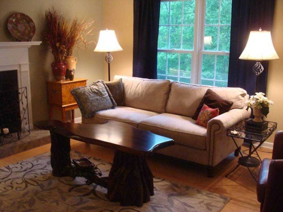 Navy Blue Window Treatments for Fall Decorating