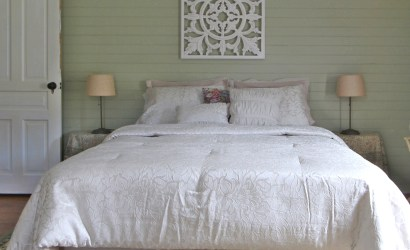 The Farmhouse Queen Bedroom in Blue Grass, VA