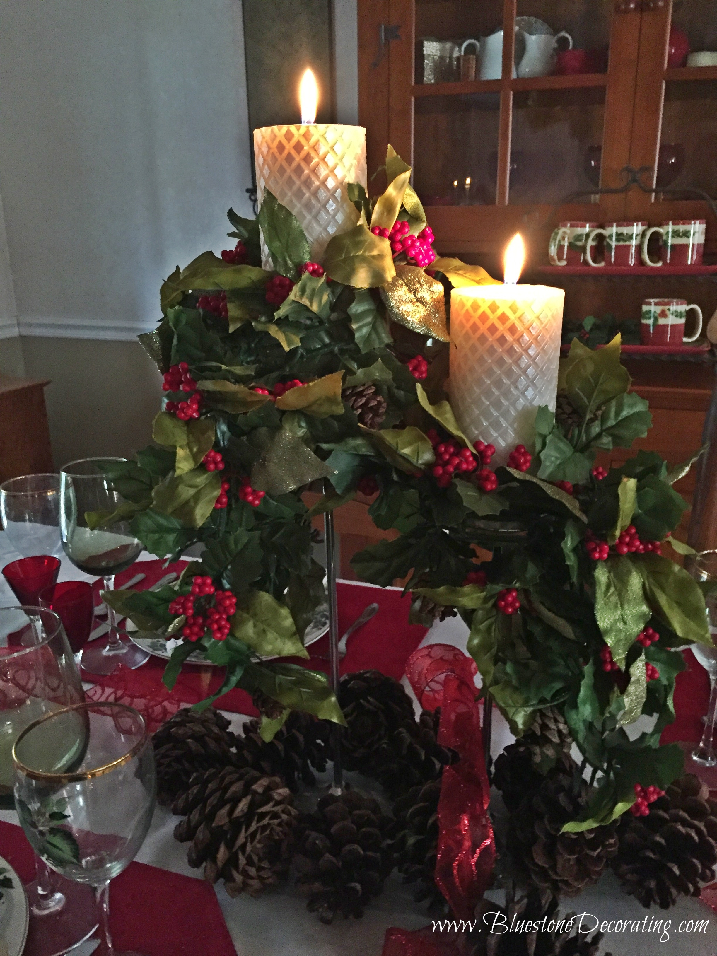 christmas decorating by interior decorator crystal ortiz garlands on chandeliers cozy traditional - Professional Christmas Decorators Near Me