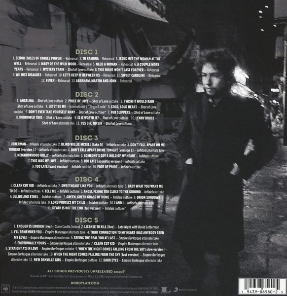 Bob Dylan – Springtime in New York The Bootlegseries Vol.16 1980-1985-back