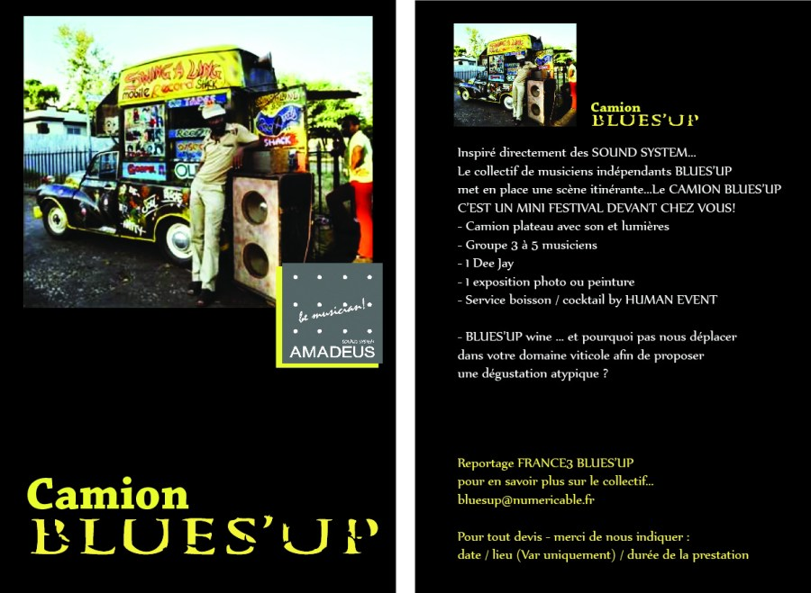 flyer camion blues up RetV