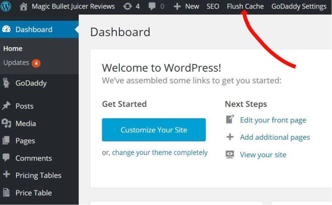 Flush Cache WordPress