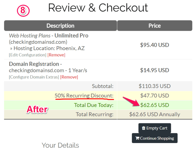 StableHost discount