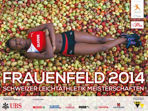 blütenwerke dekoriert an den Schweizer Leichtathletikmeisterschaften 2014 in Frauenfeld