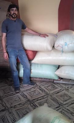 David with a fresh shipment of Pocolum Single Origin
