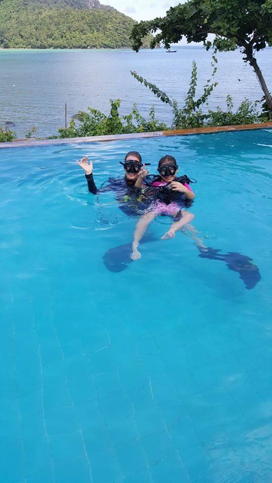 KIDS DIVING, Discover scuba diving, pool training phi phi island