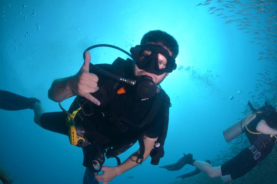 diver happy awesome phi phi island