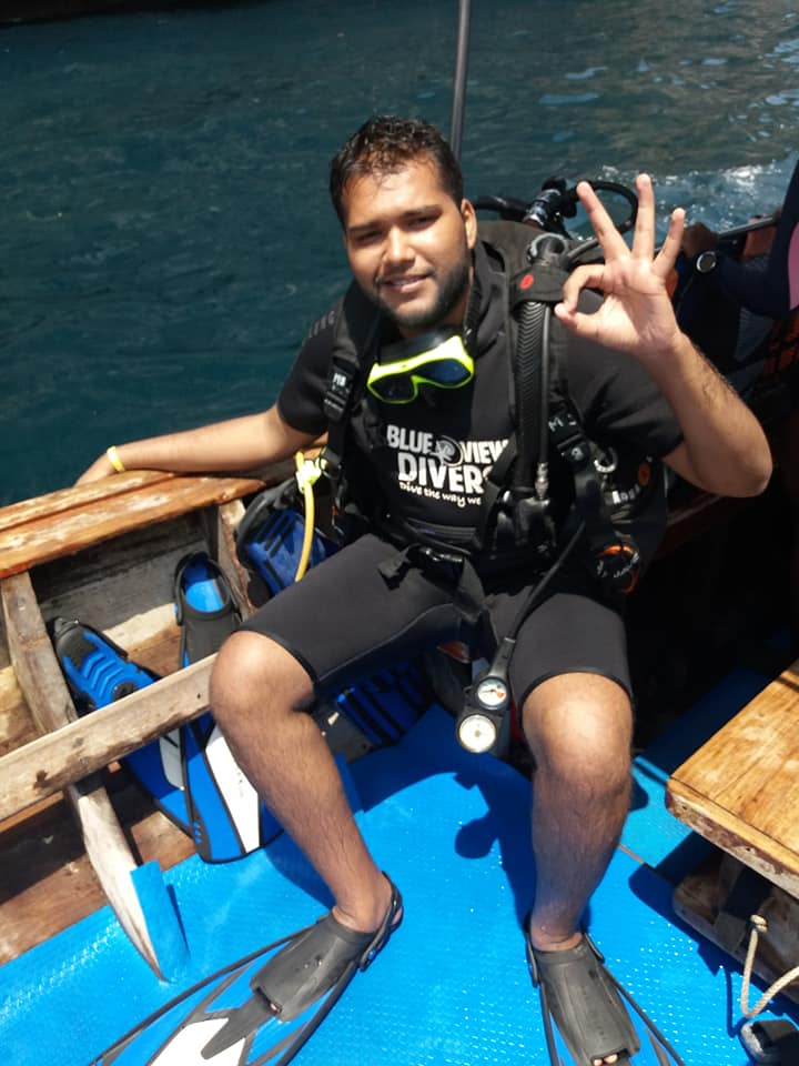 Indian padi diver, DIVE COURSES