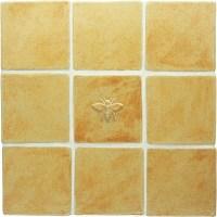 Honeybee Handmade Ceramic Accent Tile (4x4)