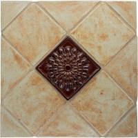 Zinnia Flower Handmade Ceramic Accent Tile (4x4)