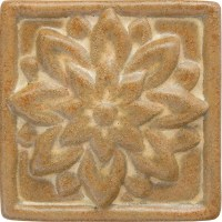 Dahlia Handmade Ceramic Accent Tile (4x4)