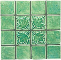 Maple Leaf Ceramic Tile (2x2)