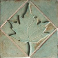 Maple Leaf Ceramic Tile (2x2)