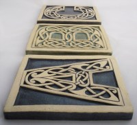 Celtic knot handmade ceramic alphabet tile S