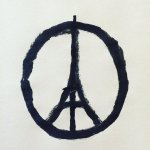 Jean Jullien, a French artist, developed a symbol for France that has been shared worldwide on social media following the attacks.