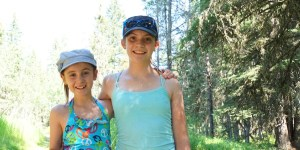 Sophie and Claire at Bragg Creek