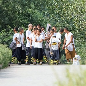 Young monks in training