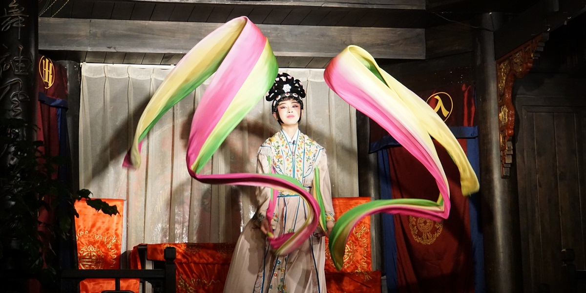 Ribbon dance at the Sichuan opera