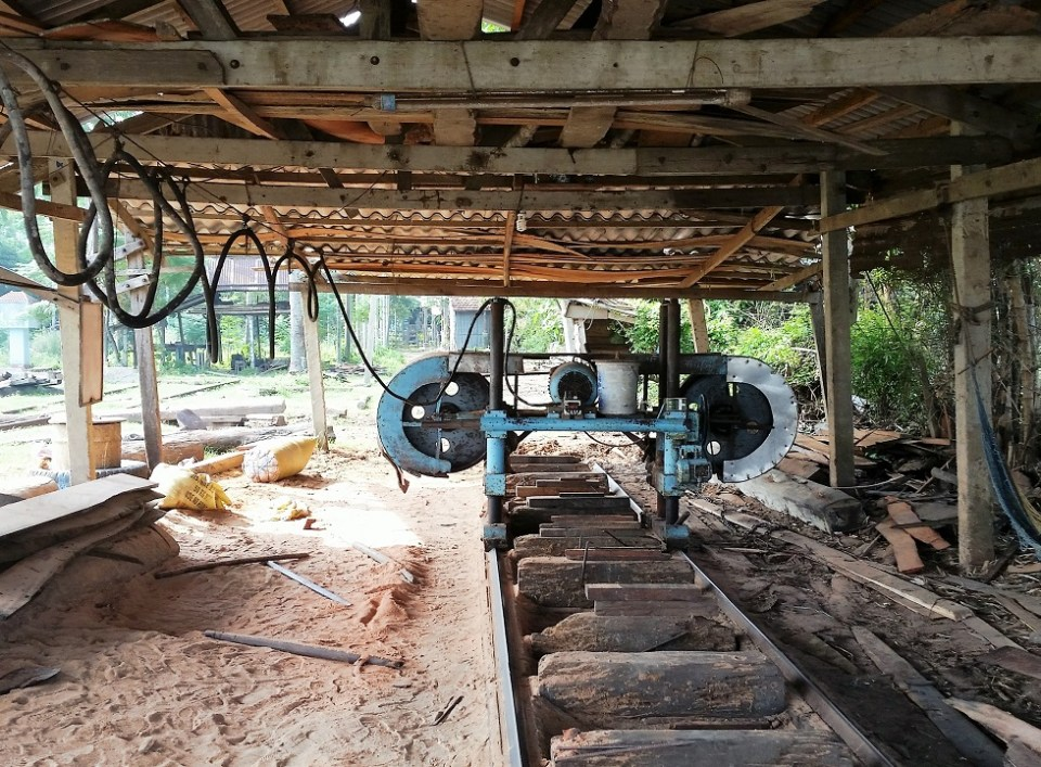 Saw mill for ship building in Kim Bong Village
