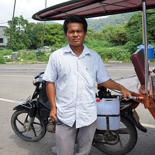 Dy, our tuktuk driver who toured us through Kep
