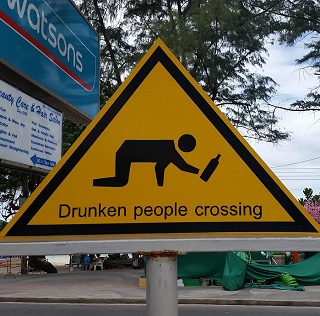 This sign pretty much sums up Patong
