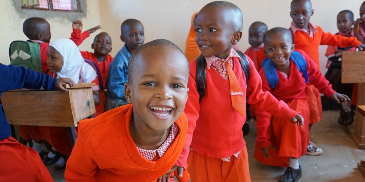 Kindergarten students in Mabogini
