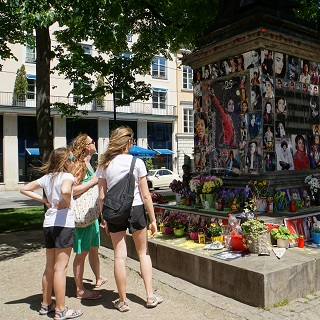 Michael Jackson memorial in Munich. Who knew Germans were so passionate?