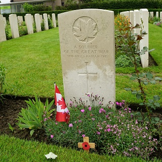 The remains of an unknown Canadian soldier