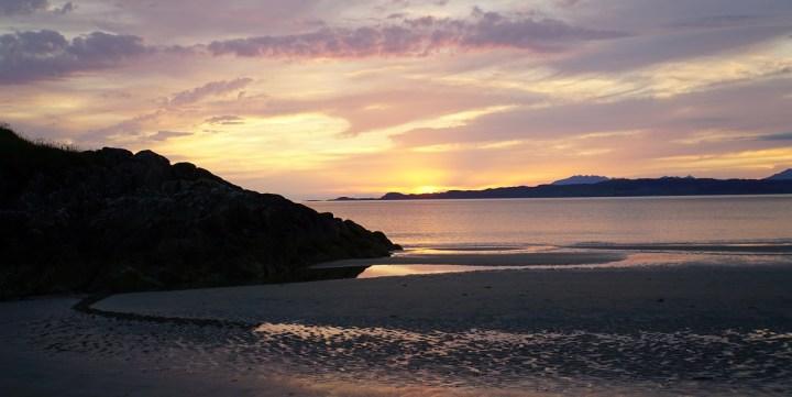 Camusdarach Beach sunset