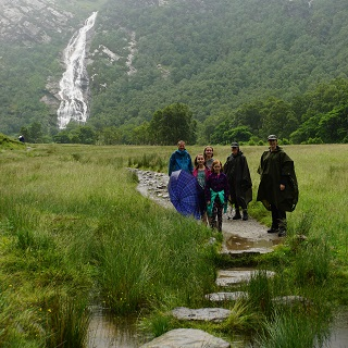 Hiking to Steall Falls