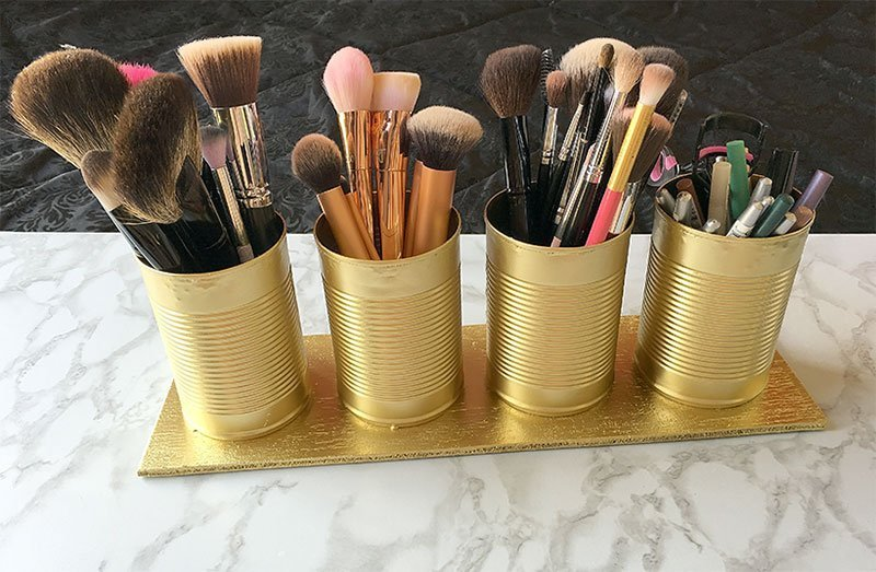 Diy Makeup Brush Holder How To Make A