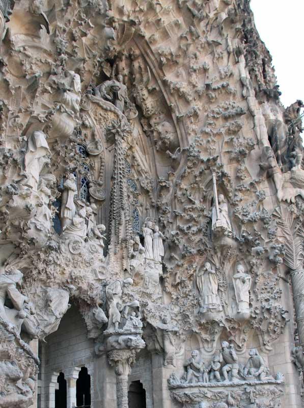 Images Of Temple Of The Sagrada Familia Nativity Facade