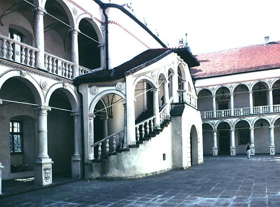 Images of courtyard of Baranw PalaceBaranw Poland by